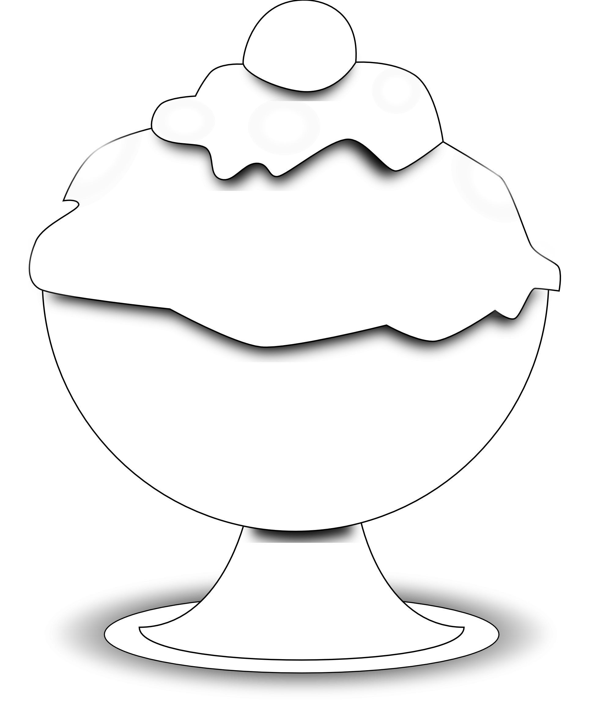 Food Black And White Clipart