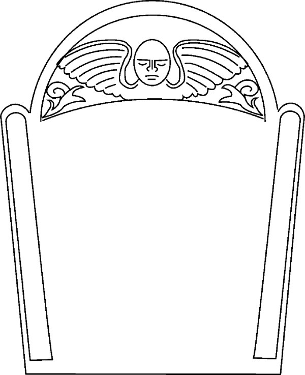 cartoon gravestone - clipart