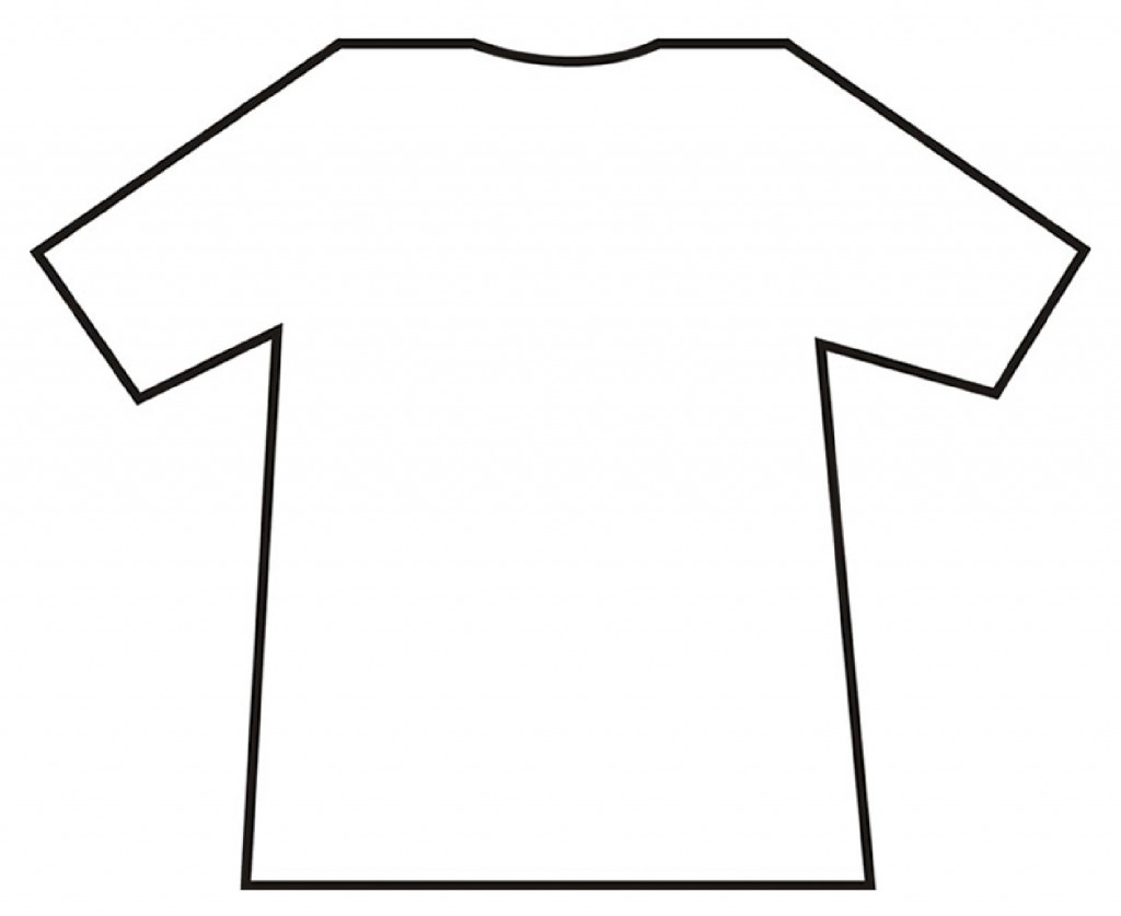 Tee Shirt Outline Template