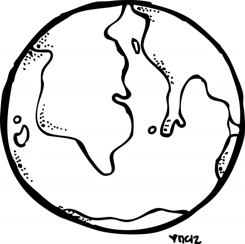 Earth Line Drawing