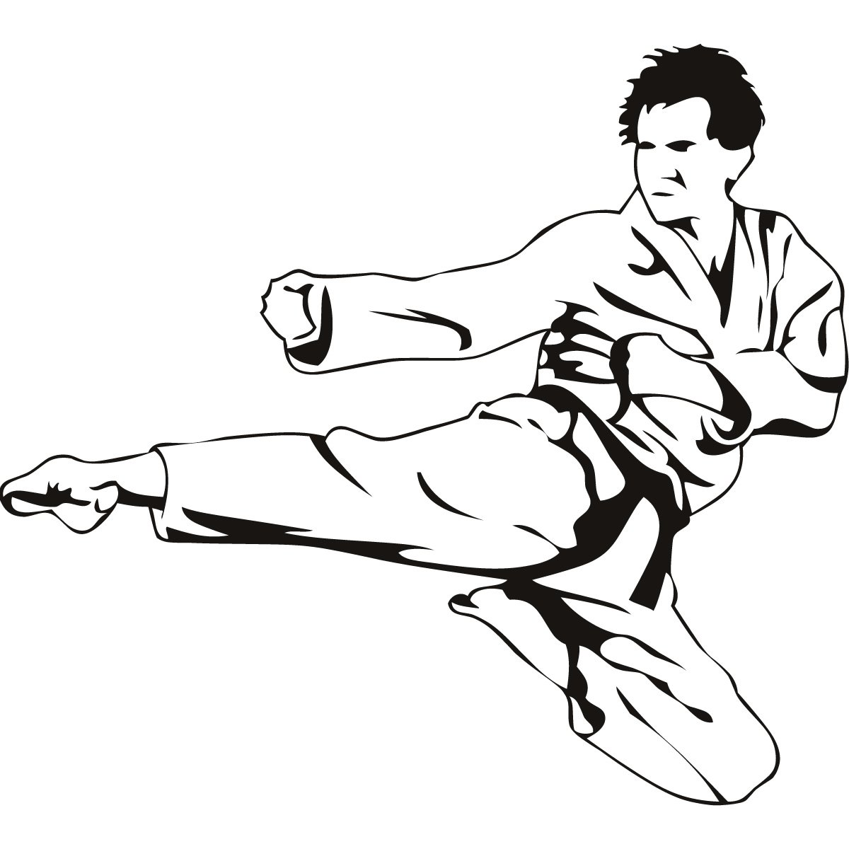 Karate Fighters Drawings