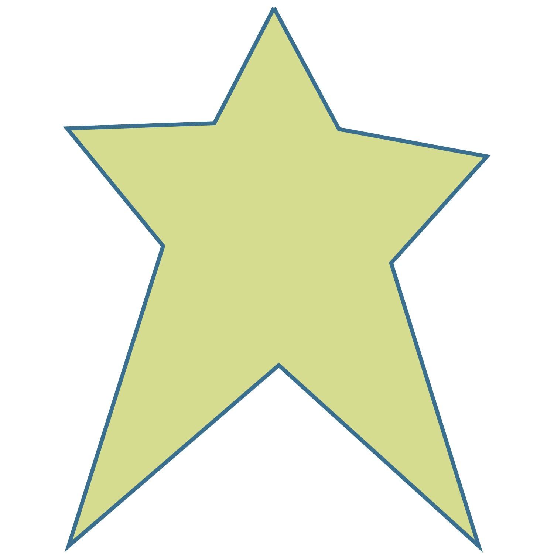 Primitive Star Stencil Printable