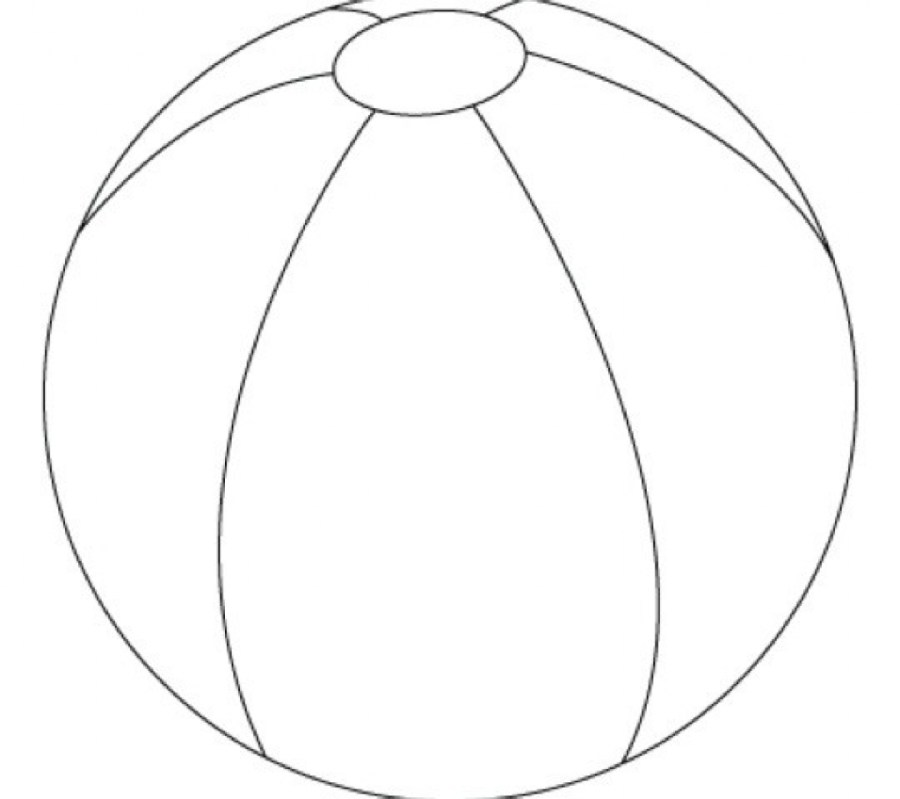 Beach Ball Colouring Pictures - ClipArt Best