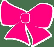 hair bow clip art - vector