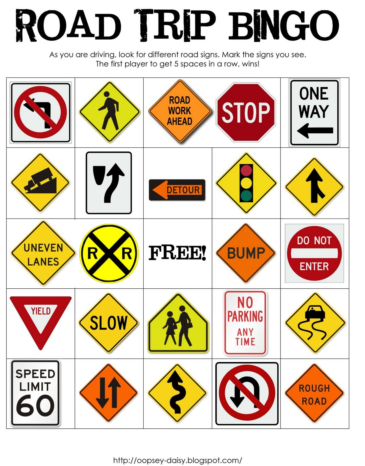 Printable Road Signs For Kids