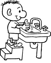 Wash Your Hands Coloring Image - ClipArt Best