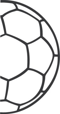 Soccer Ball Half Outline - Beautiful Wall Decals - ClipArt ...
