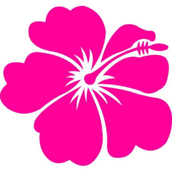 hawaiian flower art - clipart