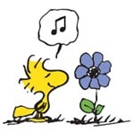 snoopy and spring time - clipart