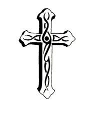 simple cross drawings - clipart