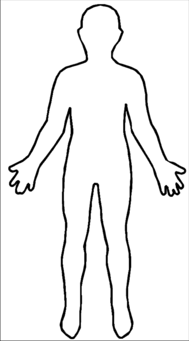 Human Body Outline Png