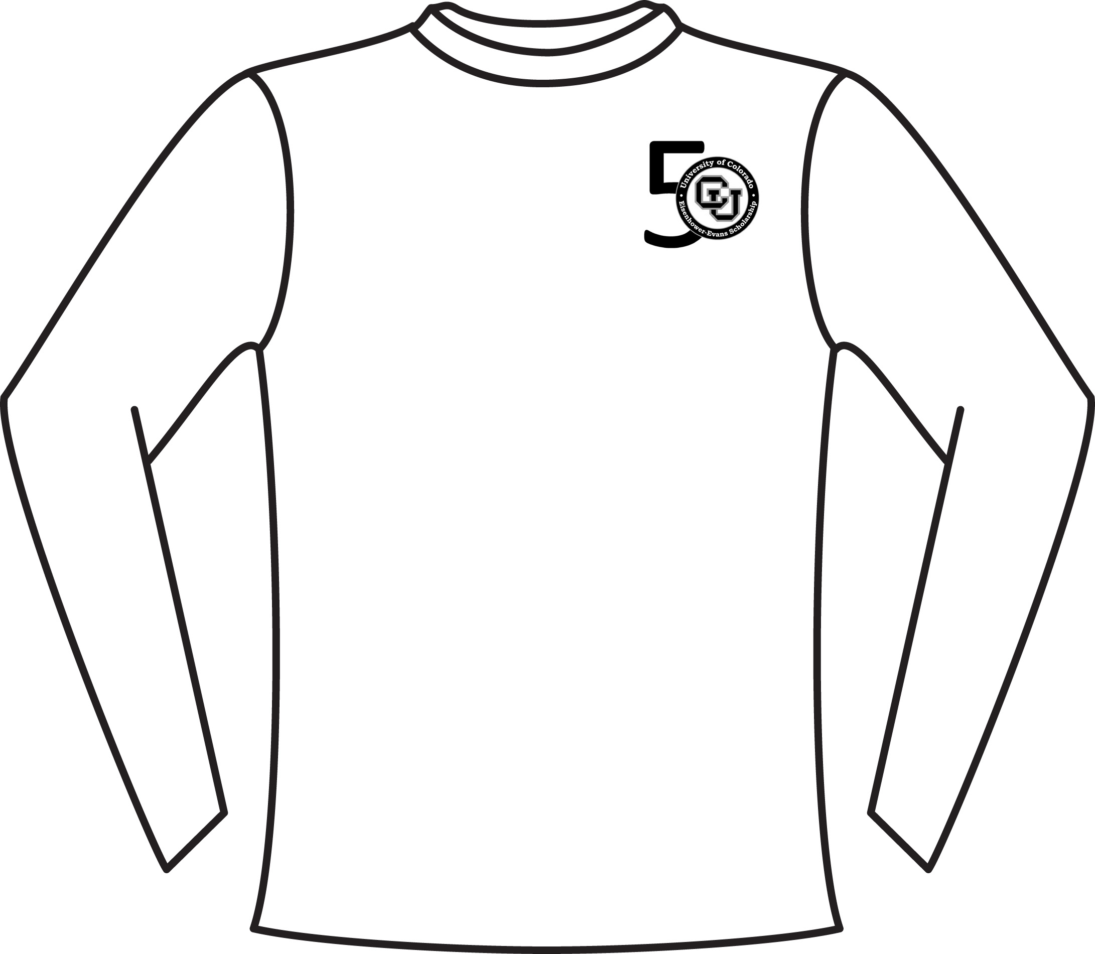 Sketch Long Sleeve T Shirt Coloring Pages