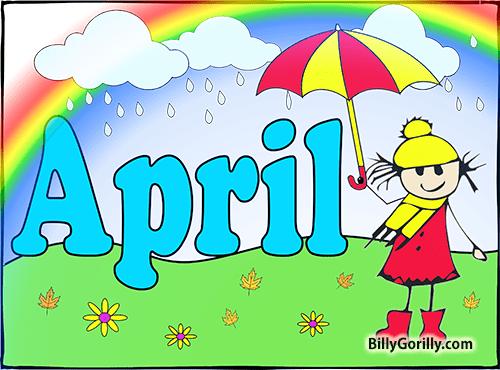 april showers art - clipart