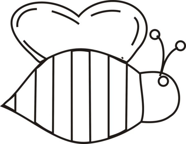 bumble bee wings template - clipart