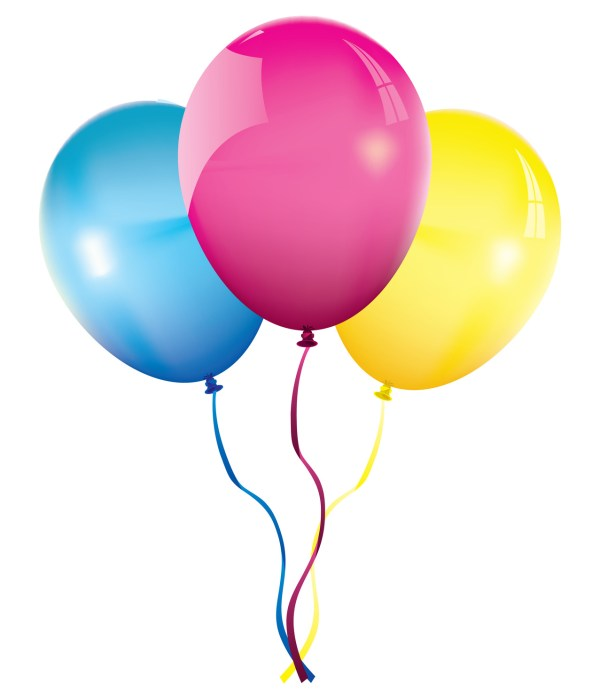 happy birthday balloons - clipart