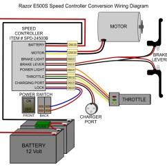 Romai Electric Bike Wiring Diagram Duck Wing Razor E100 Scooter - Clipart Best