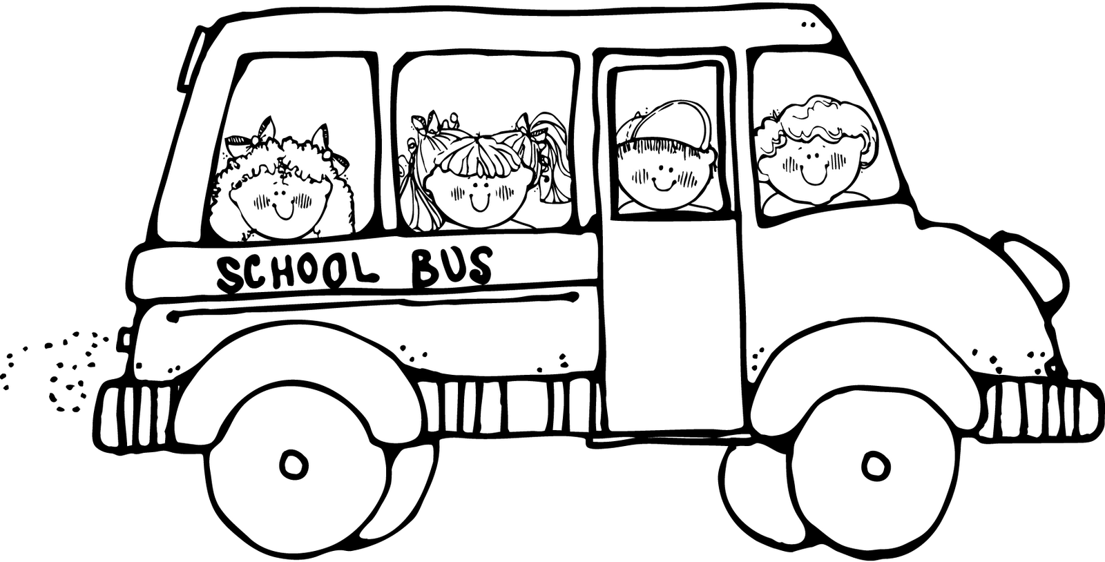 School Bus Clip Art Black And White