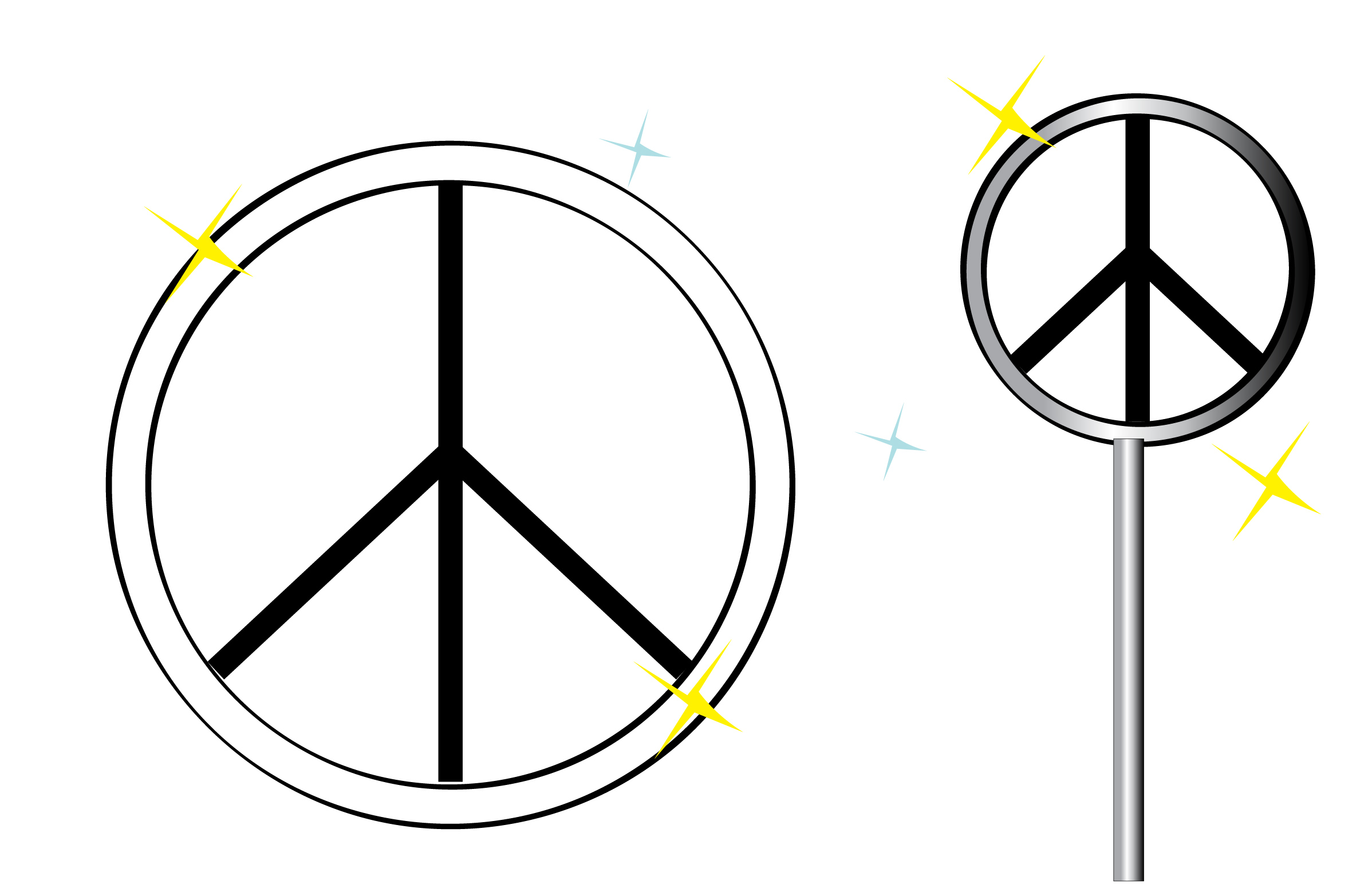 Hand Peace Sign Drawing