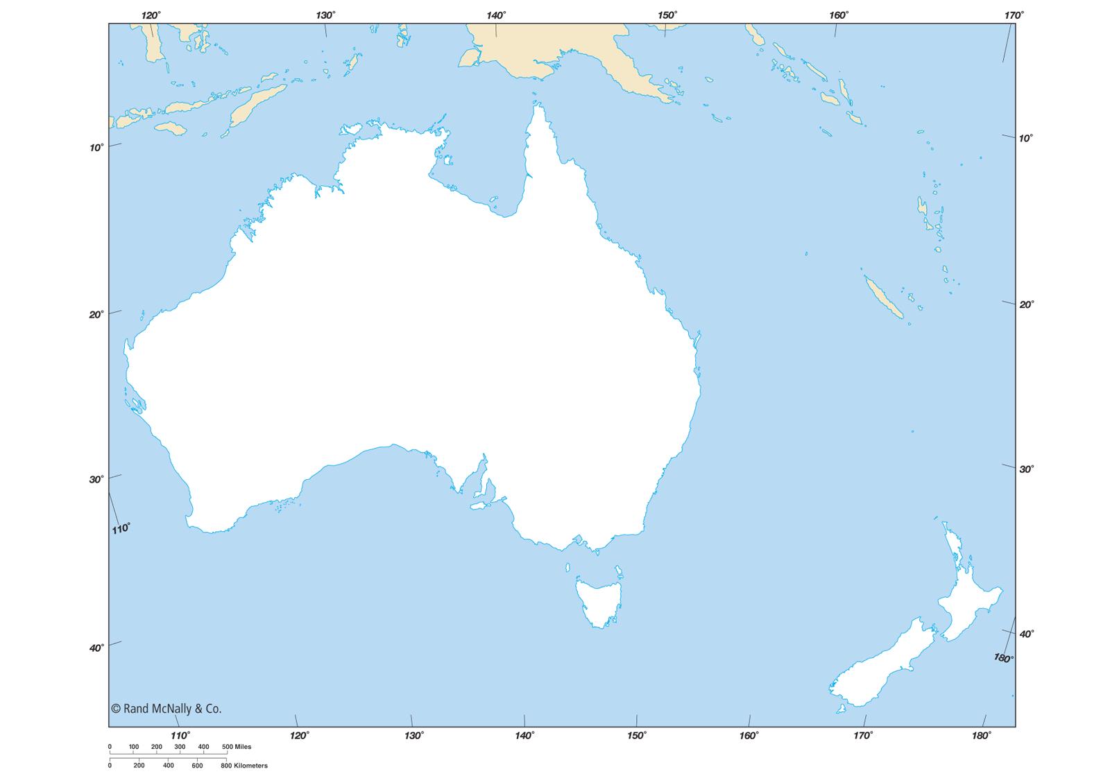Australian Map Outline
