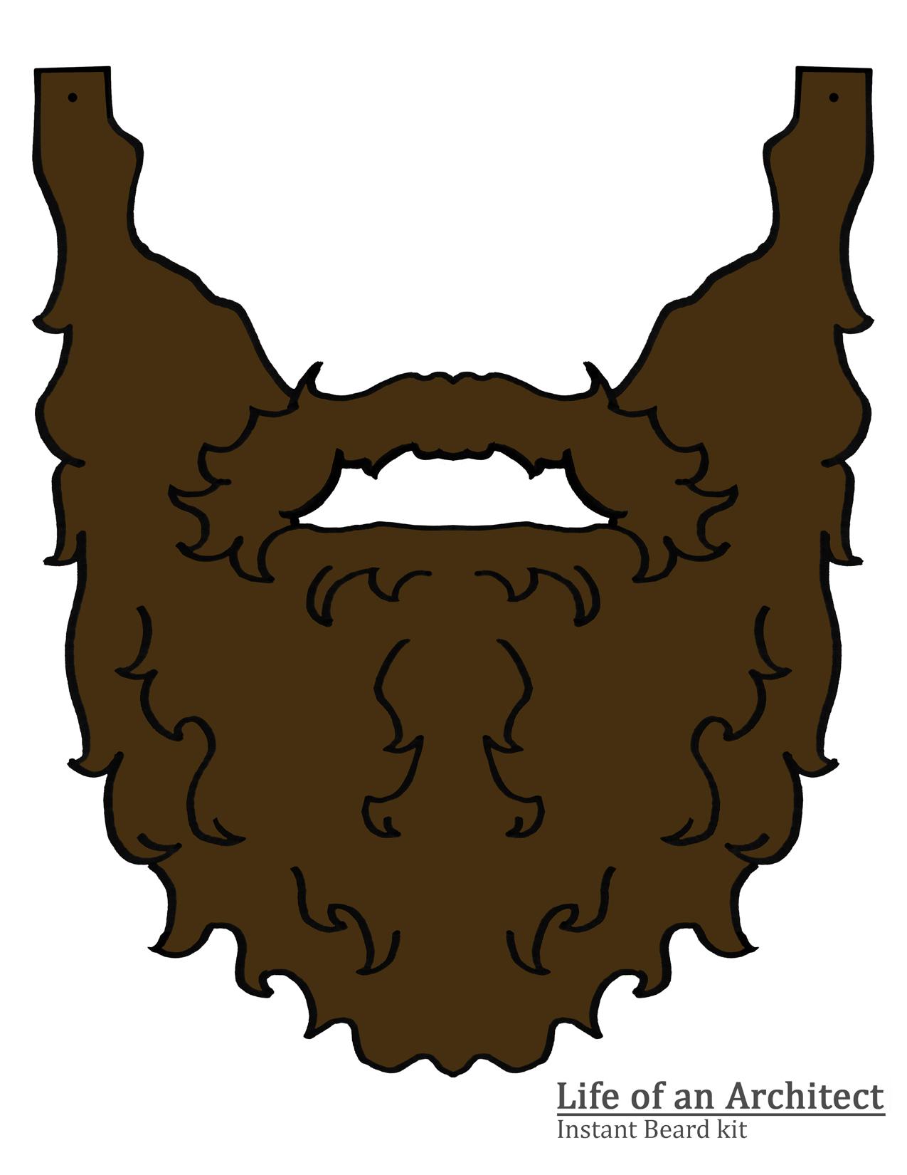 Beard Template Printable