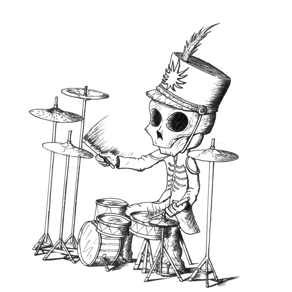Cartoon Drummer