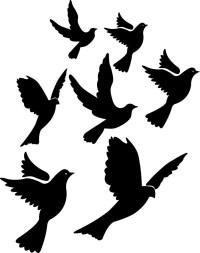Flying Bird Stencils - ClipArt Best