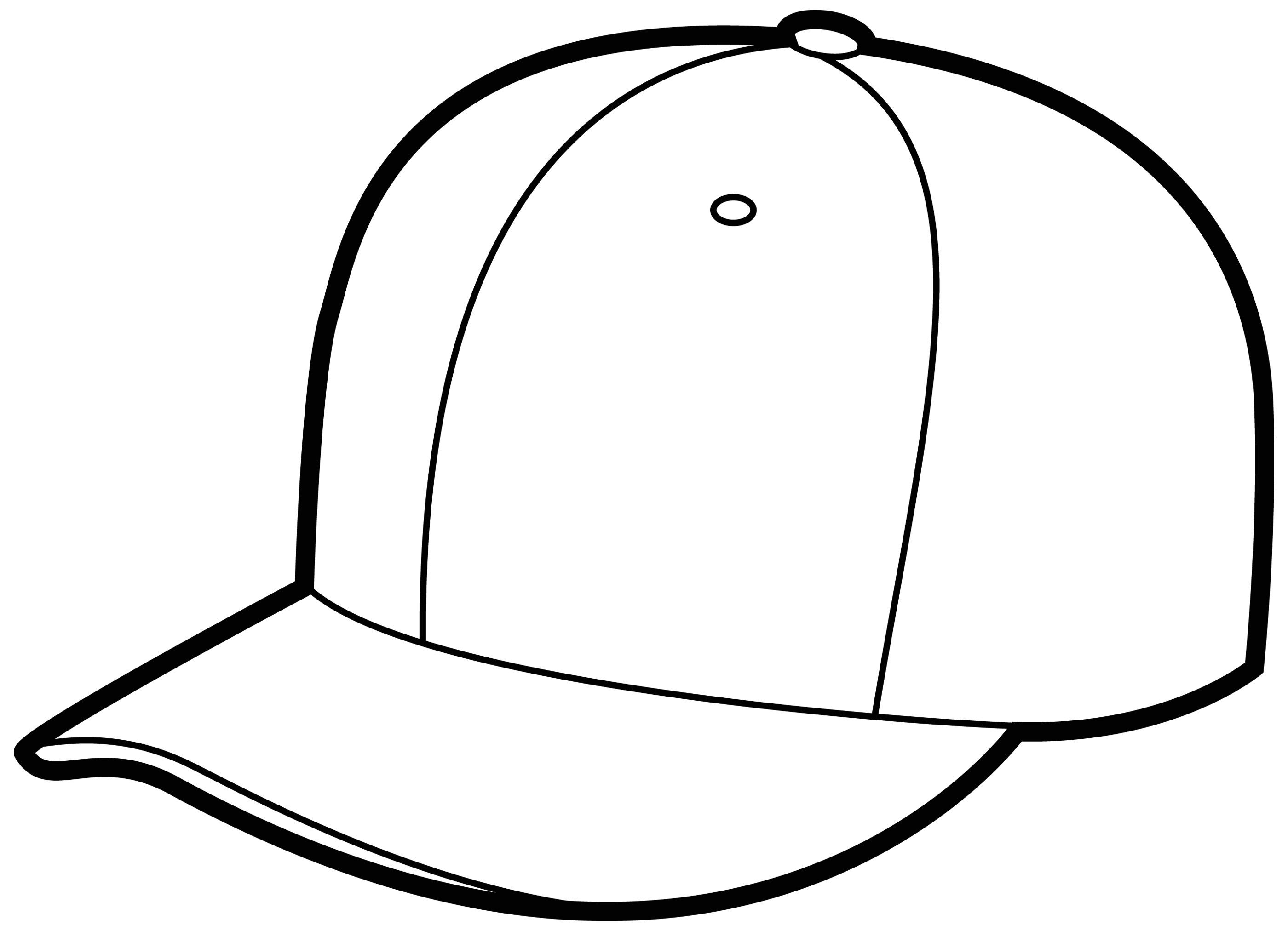 Line Drawing Of Cap