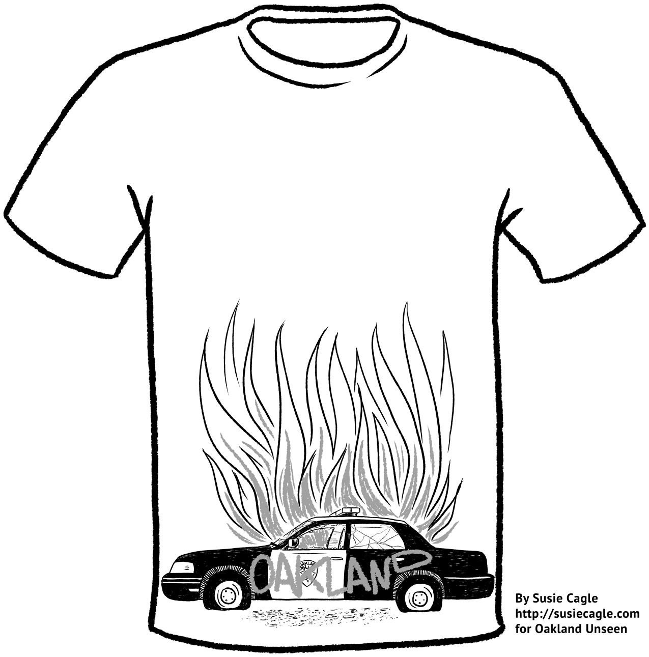 T Shirt Line Drawing