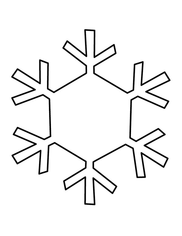 snowflake template - clipart