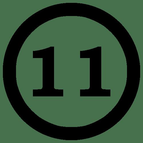number 11 clip art - clipart
