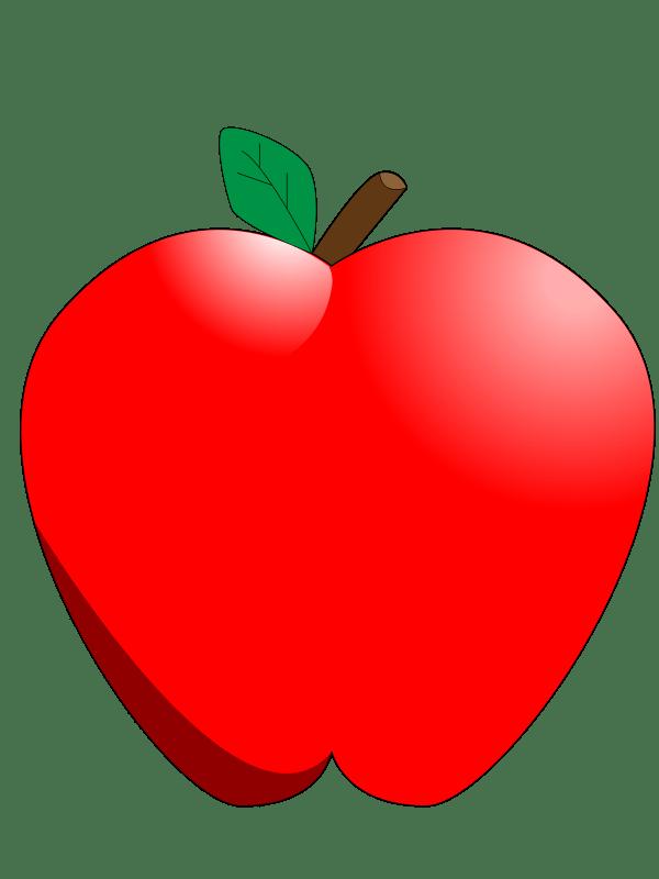 apple cartoon - clipart