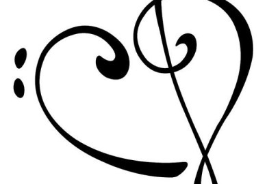 Treble Bass Clef Heart Tattoo Clipart Best