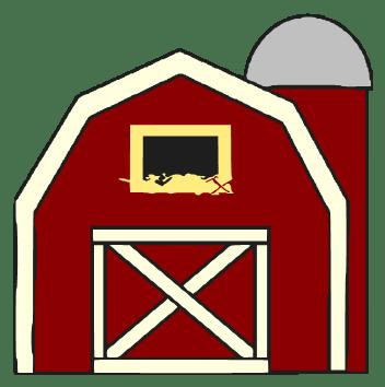 cartoon barn - clipart