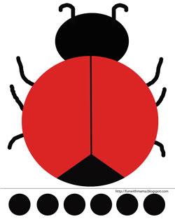 ladybird template - clipart