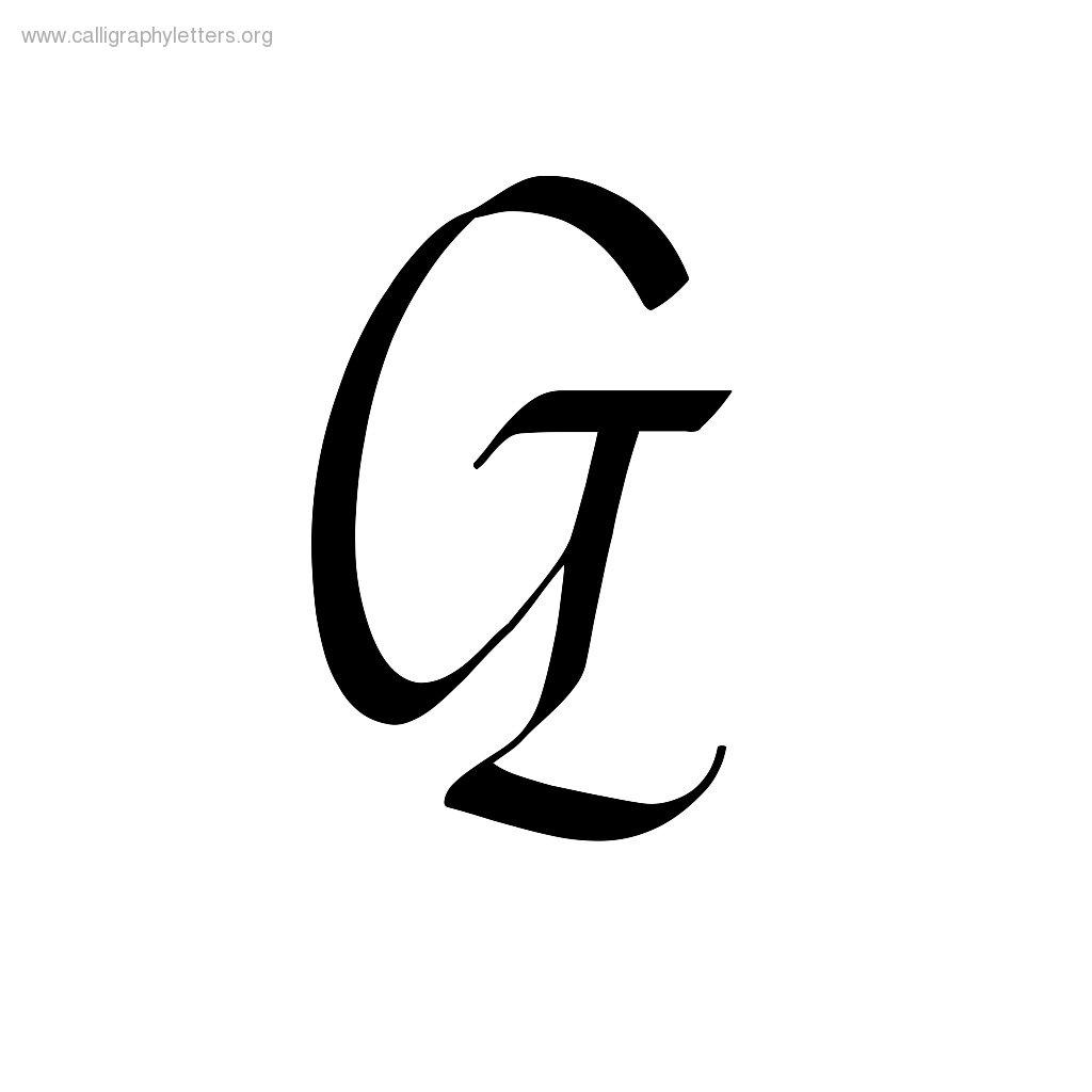 Fancy Letter G Lligraphy