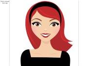 red head clip art - clipart