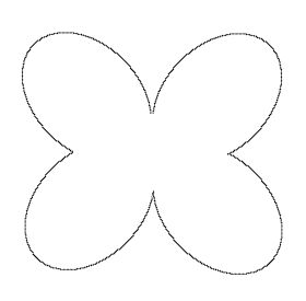 bee wing stencil - clipart