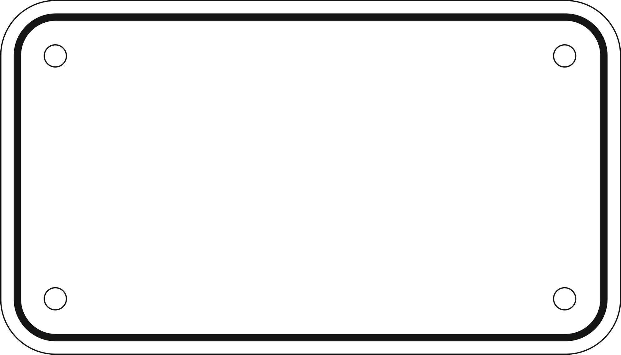 Blank Plate Template