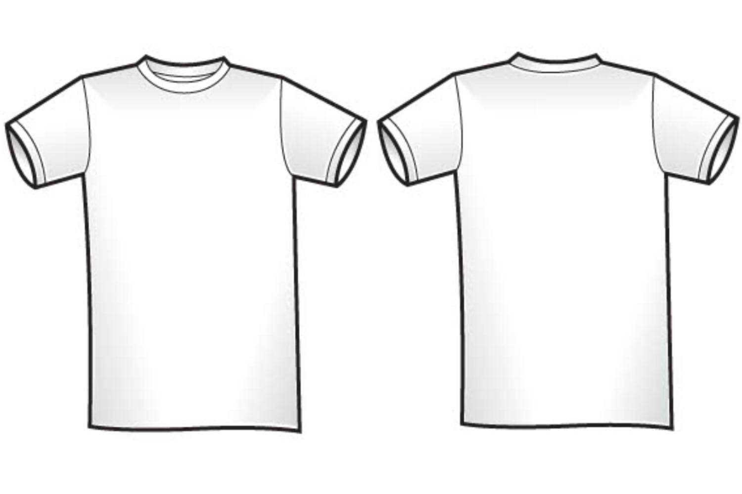 Blank T Shirt Outline