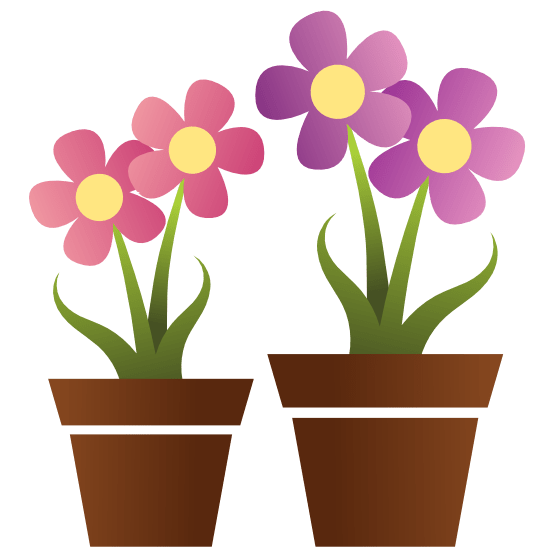 clip art flower pots - clipart