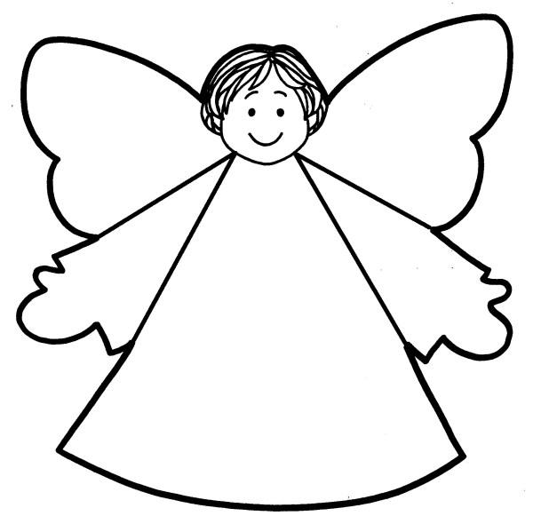 angel cut template - clipart