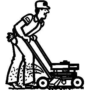 lawn mower clip art - clipart