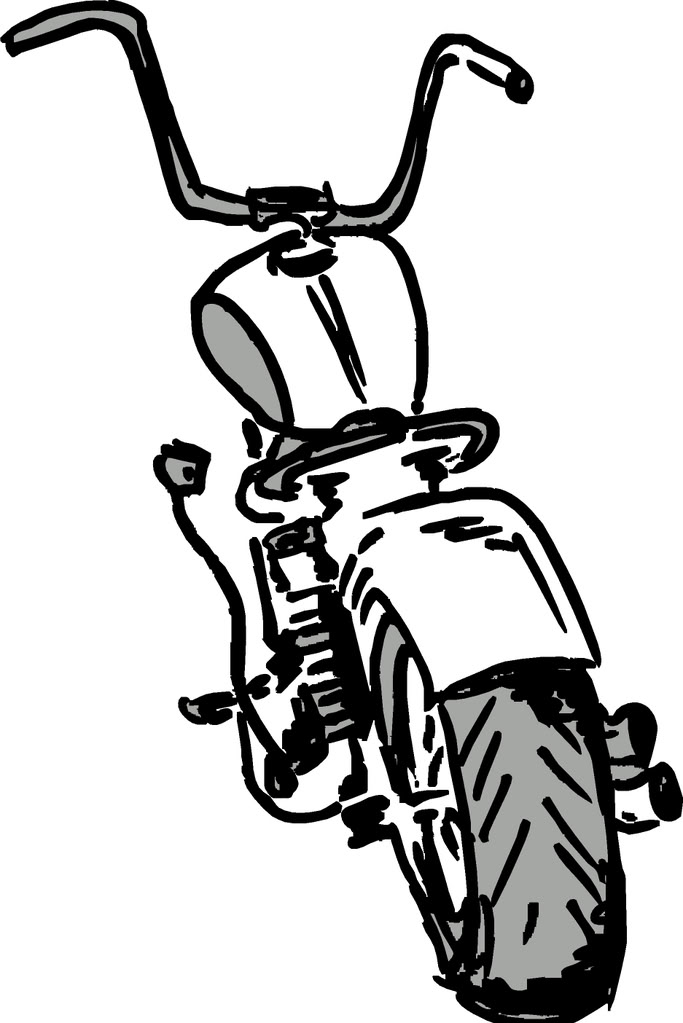 Motorcycle Cartoon Harley Davidson Xl 1200l Sportster 1200
