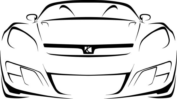 outlines of cars - clipart