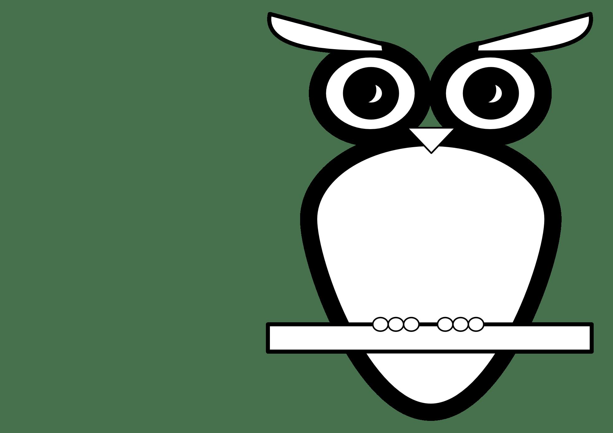 Clipart Of An Owl