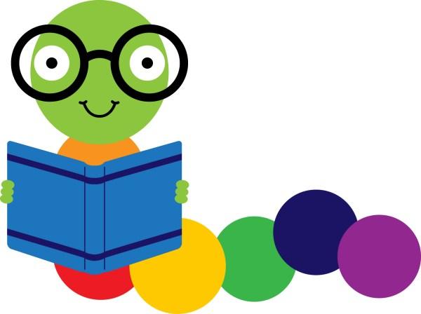 Bookworm Reading Book Clip Art