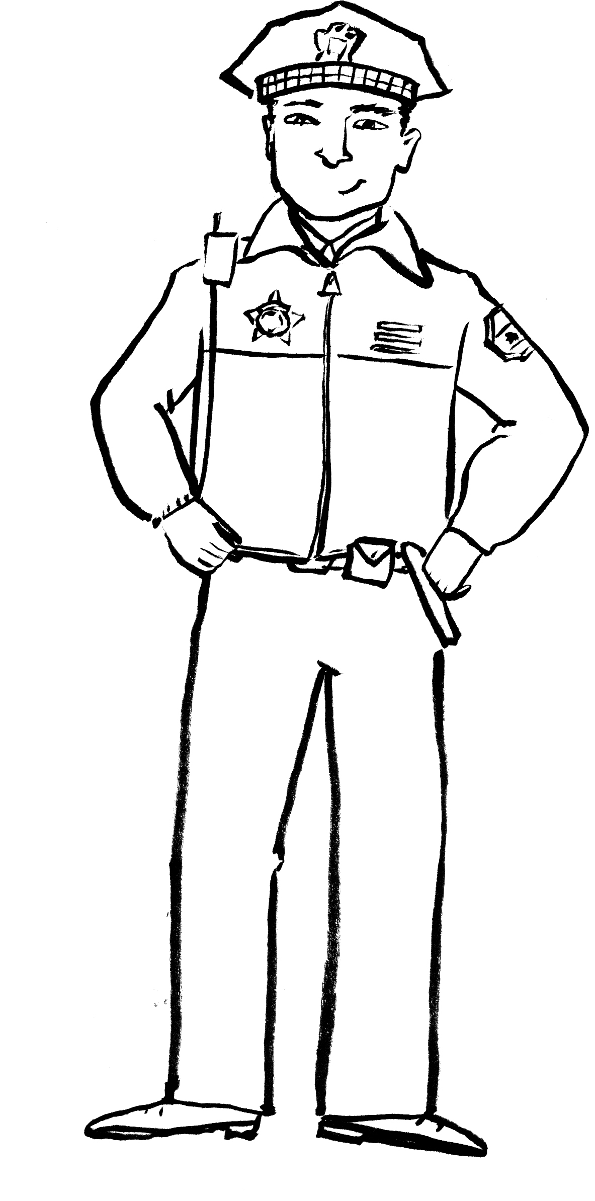 Policeman To Color