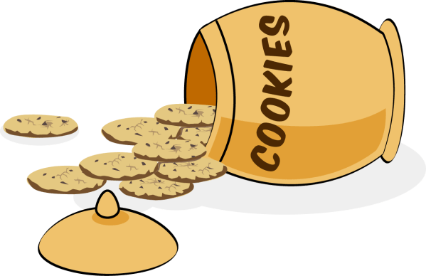 cookies and cookie jar - clipart