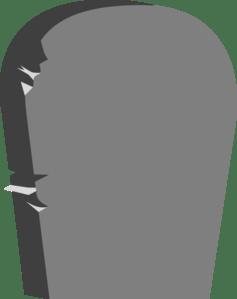blank gravestone - clipart