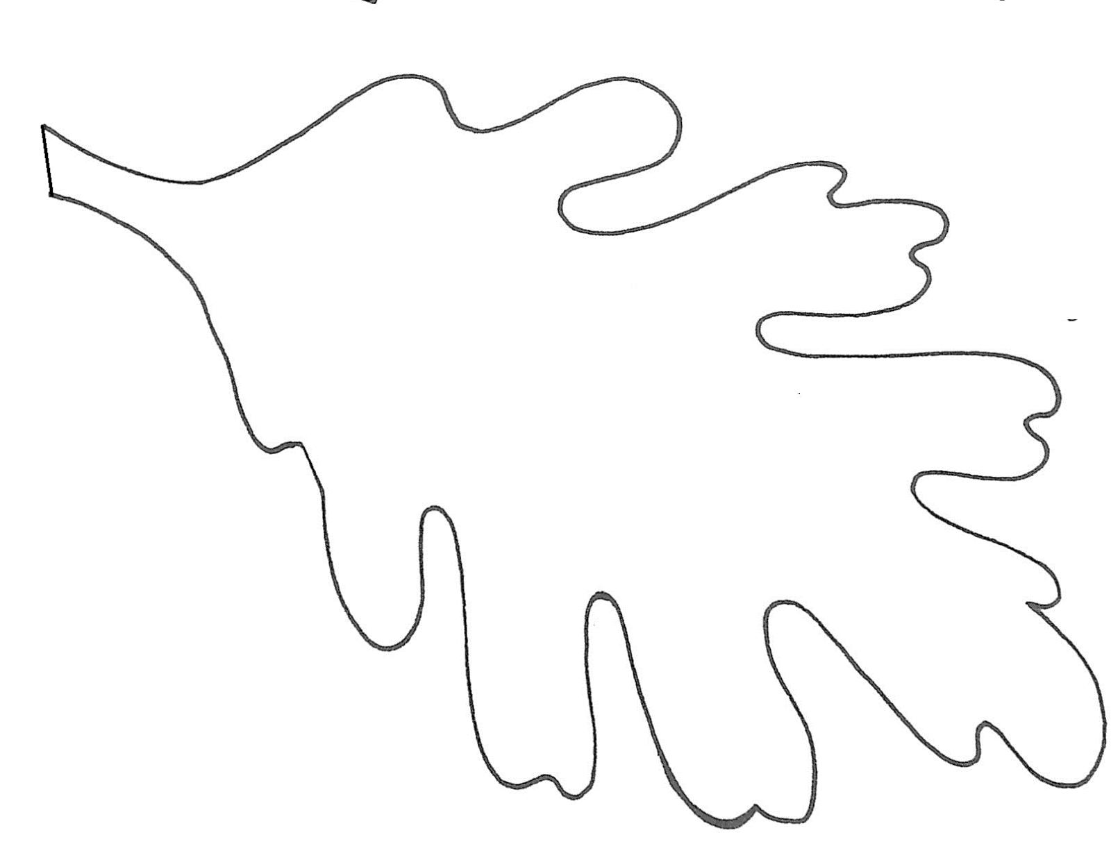 Maple Leaf Stencil Printable